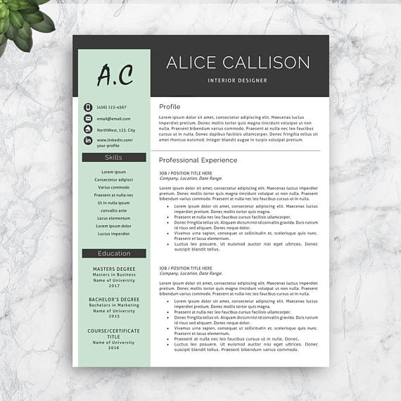 Creative Resume Template Download, add your text and your CV is - download resume template
