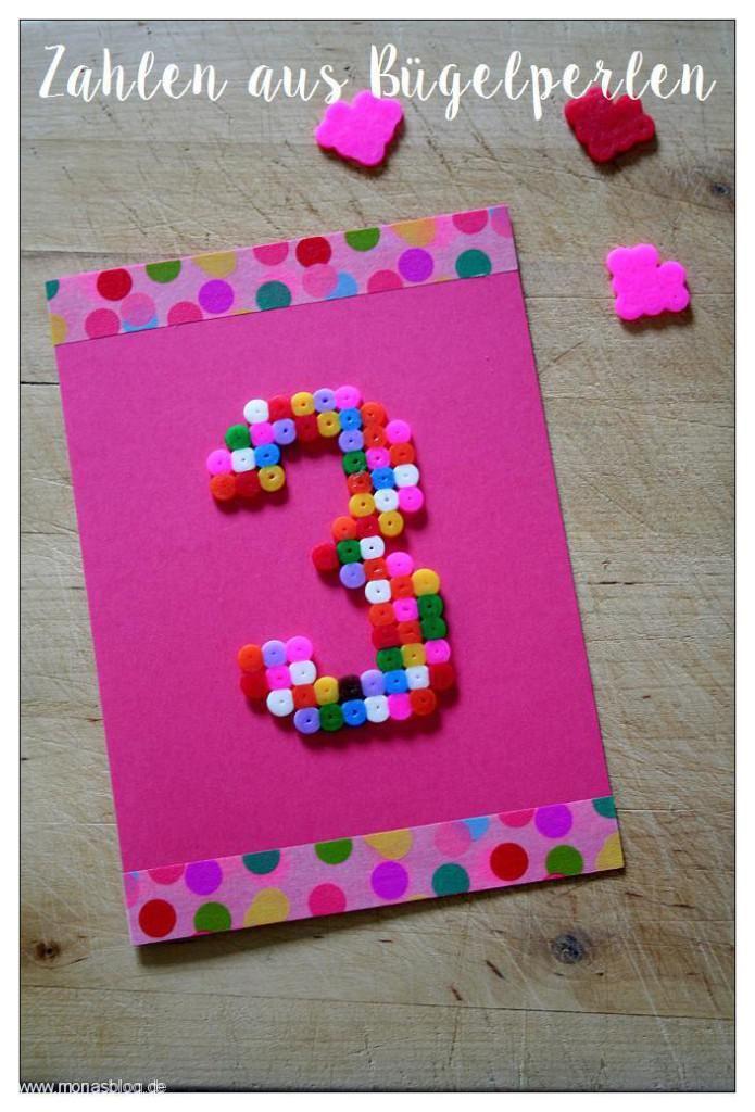 Basteln Mit Bügelperlen Schnelle Geburtstagskarte Kids Birthday
