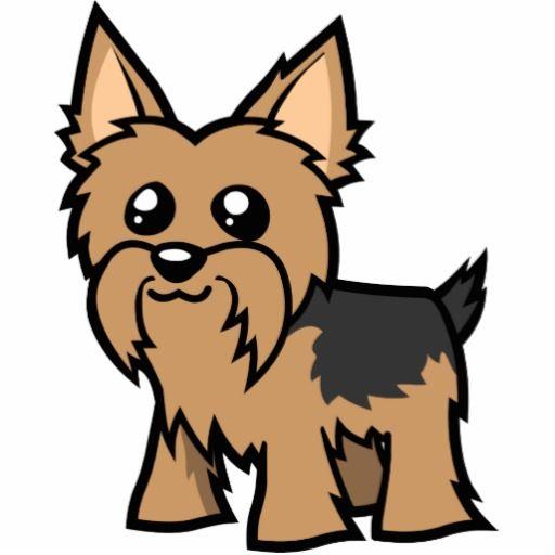 Cartoon Yorkie Short Hair Yorkie Painting Yorkie Dog Drawing