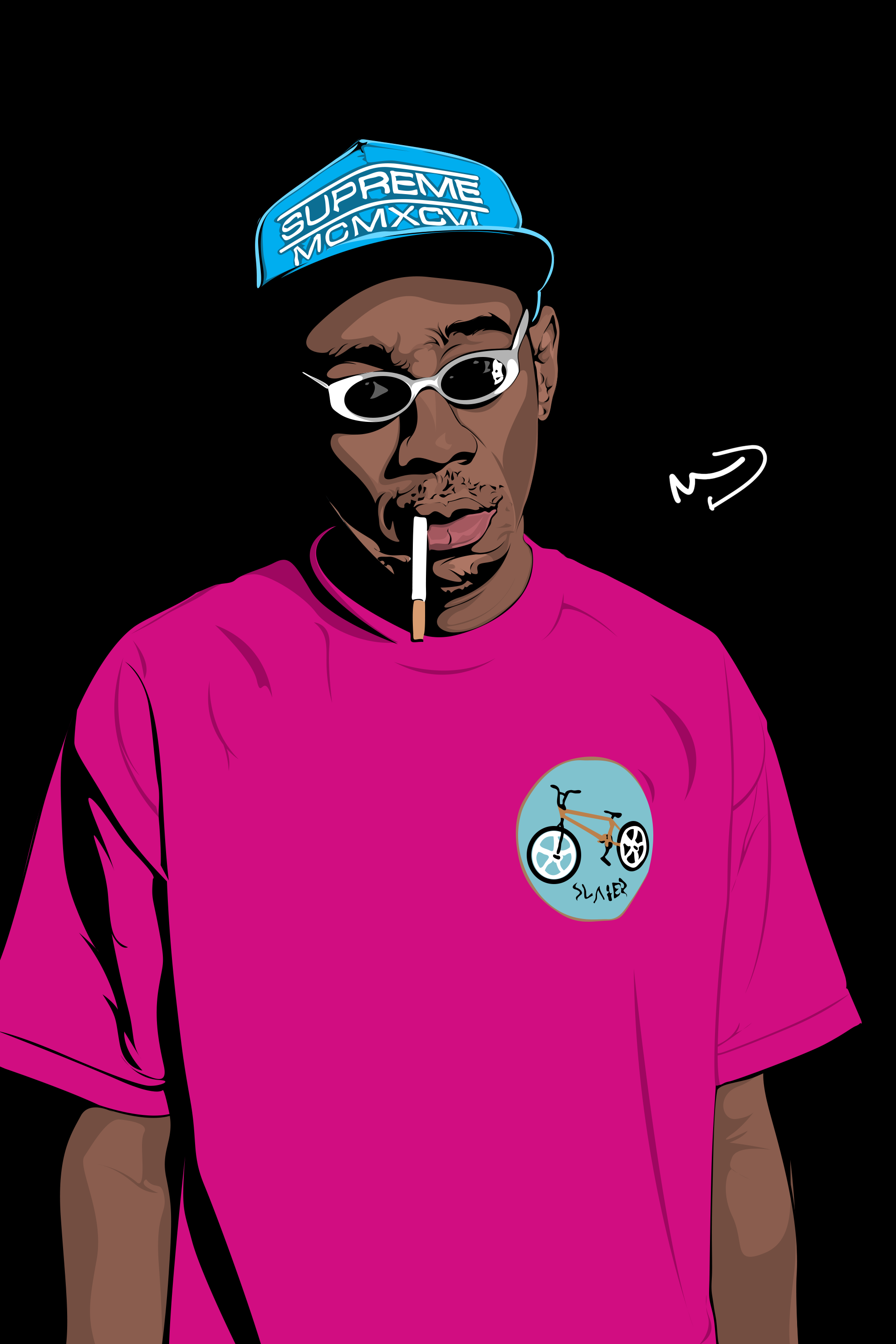Tyler The Creator Wolf Sticker Tyler The Creator Face Stickers Cool Stickers