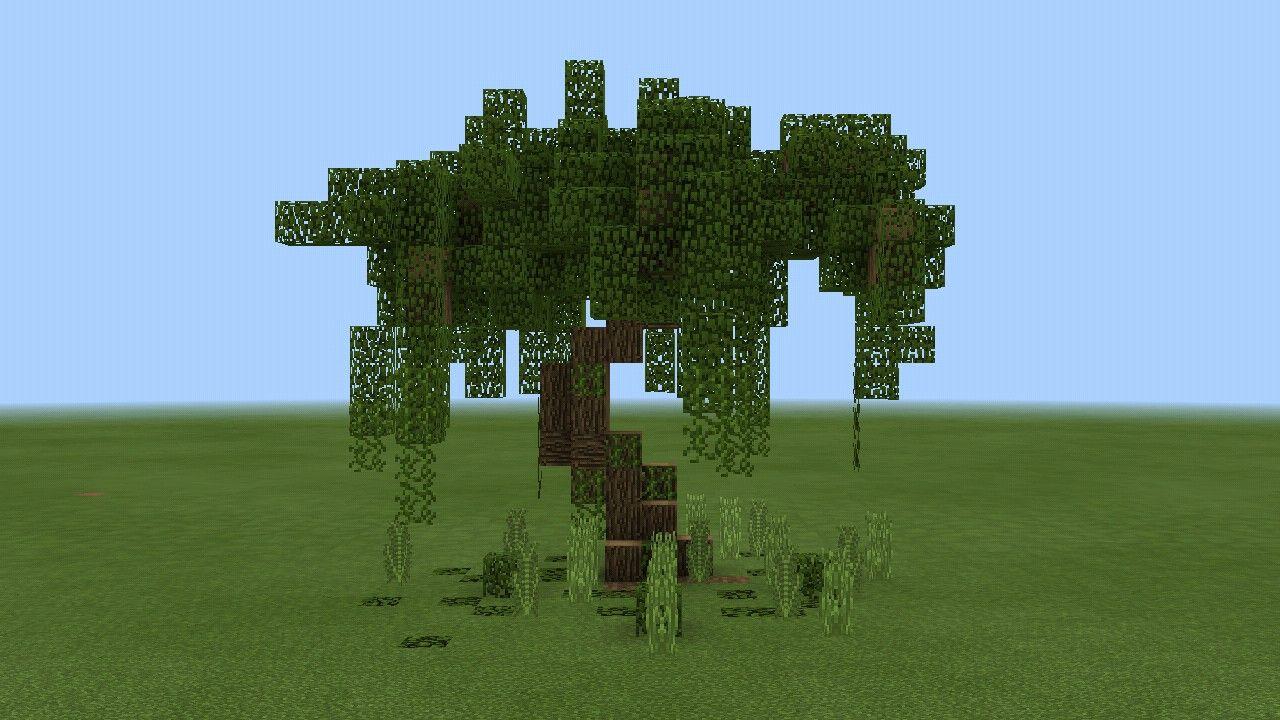 Small Custom Swamp Tree Minecraft Projects Minecraft Blueprints Minecraft Decorations