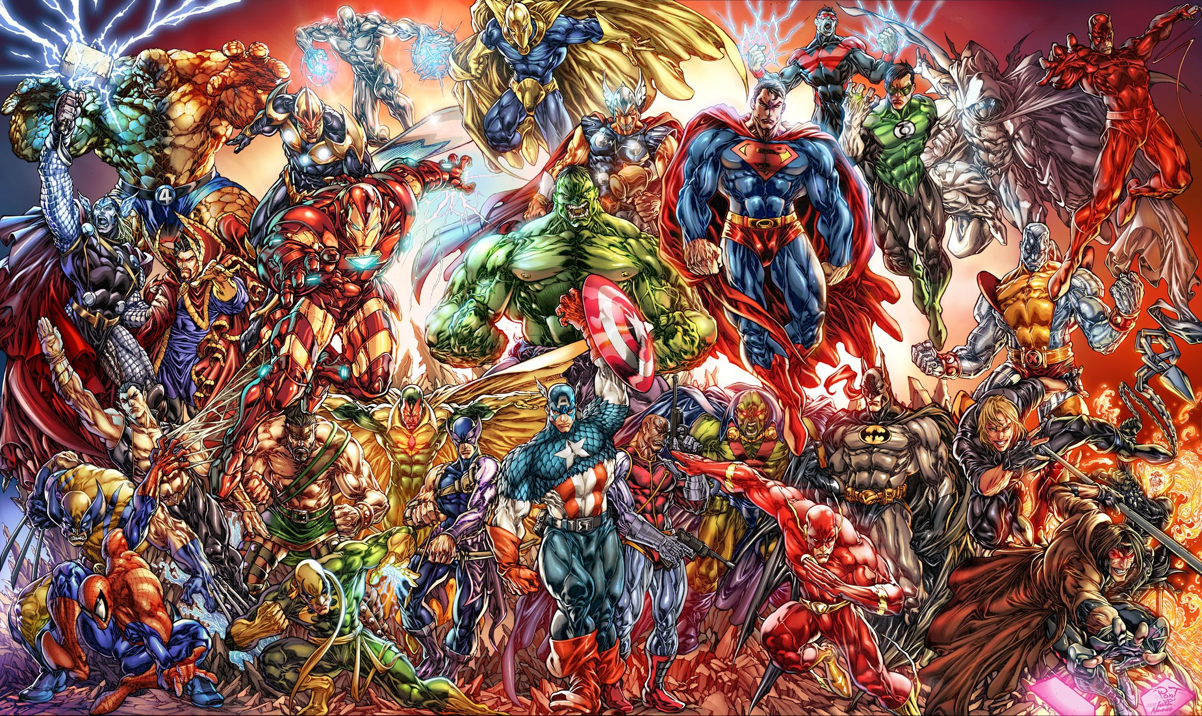 Of Marvel And DC Characters Computer Wallpapers, Desktop