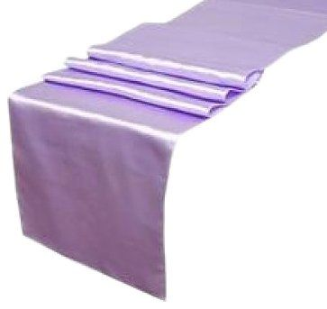 Koyal 12 by 108Inch Satin Table Runner, Lavender Amazon