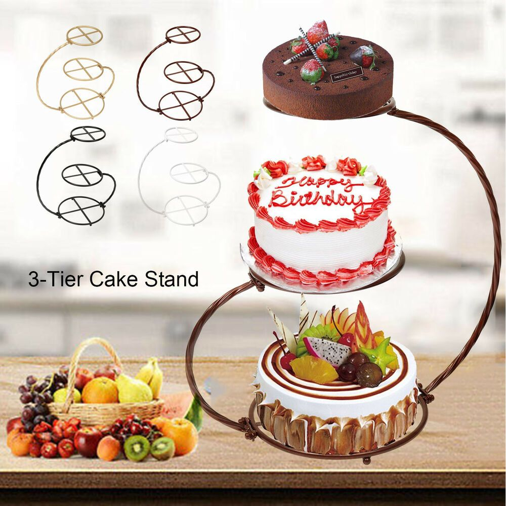 4 Colors Iron 3 Tier 60cm 23 6 Cascade Cake Stand Wedding Birthday Party Unbranded Dessert Display Cupcake Stand Wedding Wedding Cake Stands