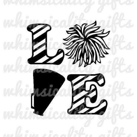 Love Cheerleading with SVG, DXF, PNG, Eps Commercial