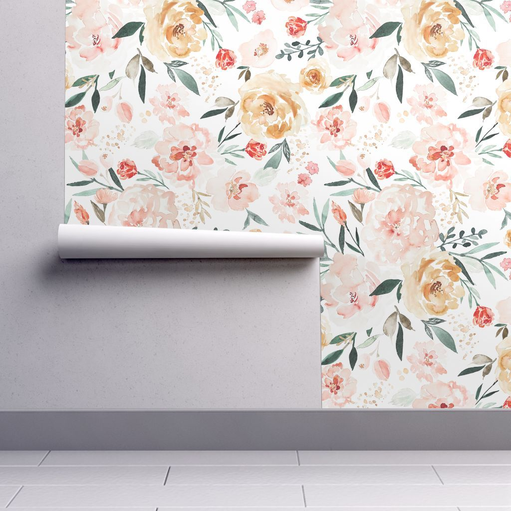 Ibd Skye C In 2021 Magnolia Wallpaper Spoonflower Wallpaper Floral Wallpaper