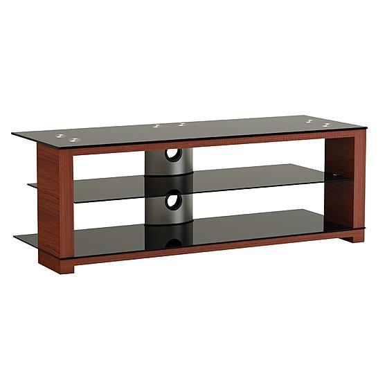 Alphaline Wood Glass And Metal Tv Stand Tv Stand Metal Tv