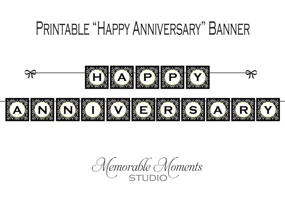 image regarding Happy Anniversary Banner Free Printable identified as Welcome towards the Unforgettable Periods Studio