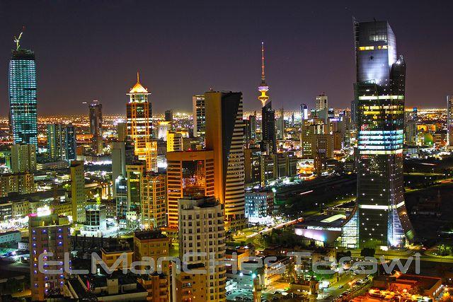 Kuwait City At Night Liberation Tower Buildings Night City Kuwait City World Cities