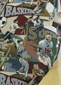 Futon Cover In Sport Playoffs Fabric Is A Theme Pattern Slipcover