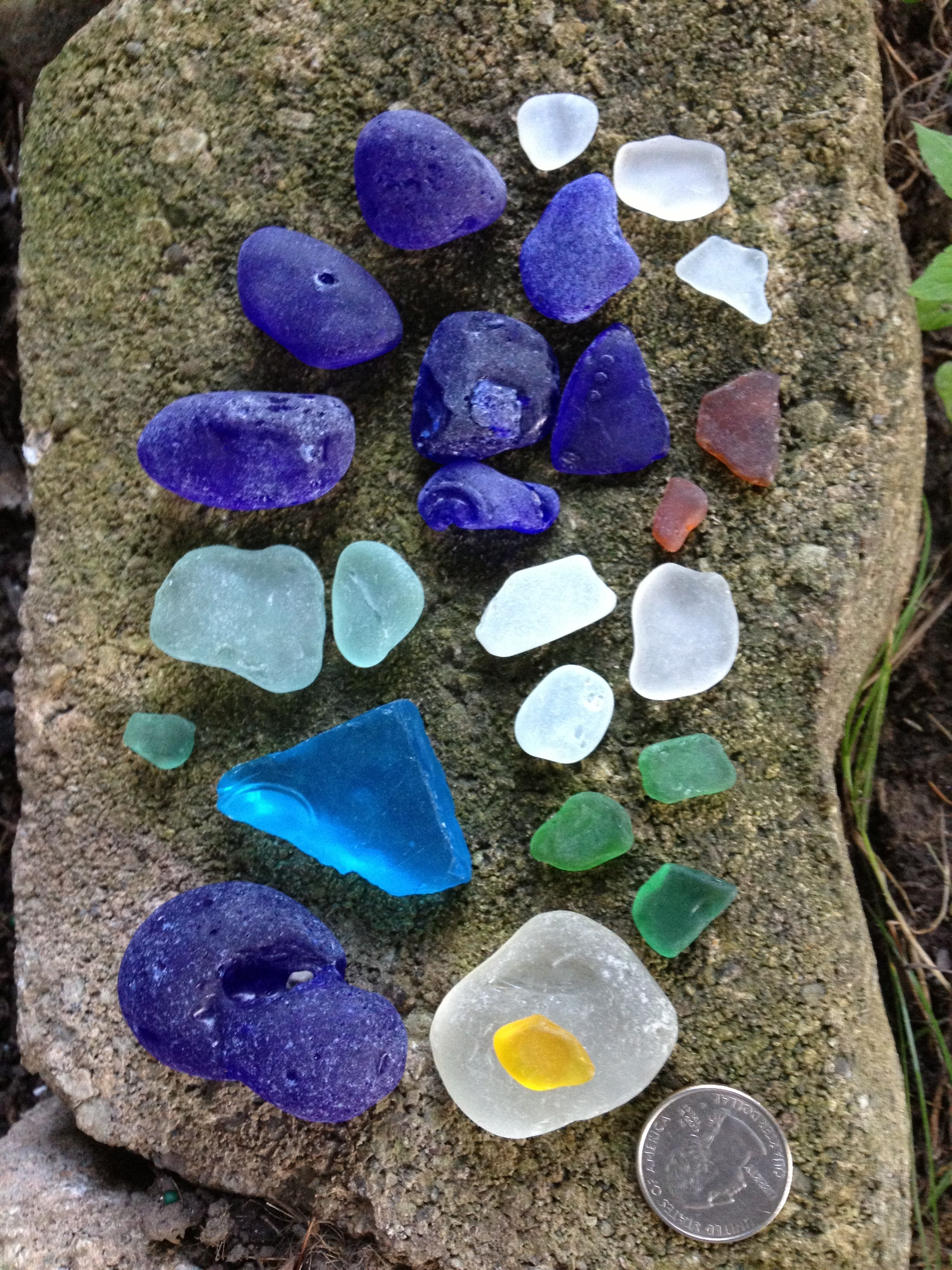 Lake Erie Beach Glass finds Geneva the Lake