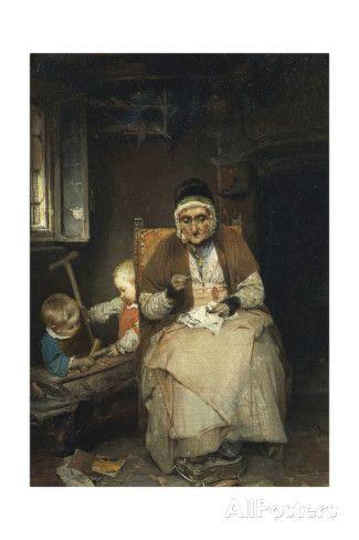 Gerolamo Induno (1825-1890) ~ The Grandmother