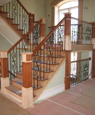 Best Wood Wrought Iron Staircase This Sectional Stairway Was 400 x 300