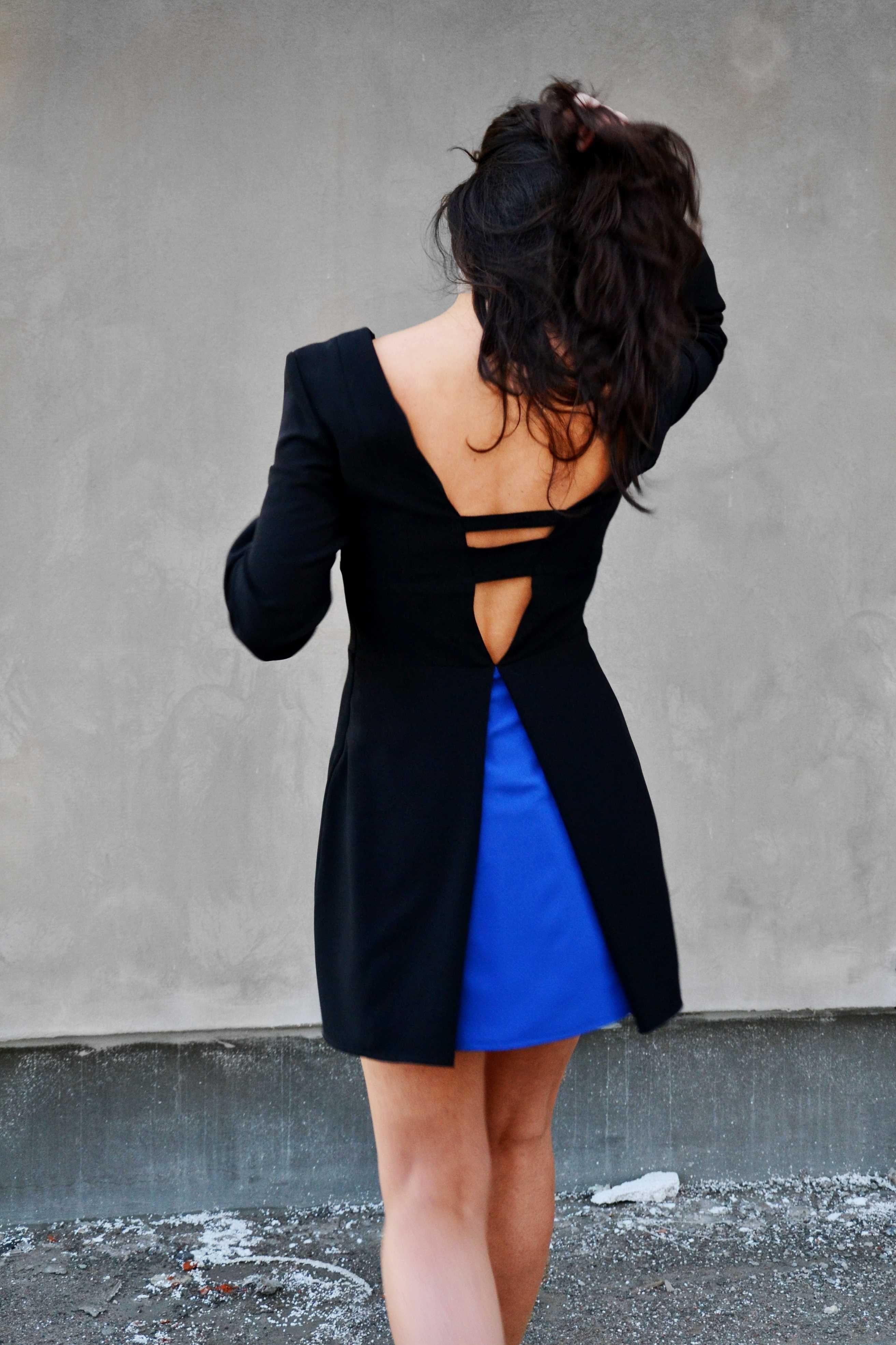 "Raquel Baptista ""Mind, Body & Soul"" Lookbook - Look14: Black Contrast Dress with Open Back!"