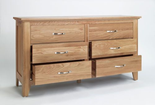 Sensational Dorset Oak Bedroom Furniture Large Wide Low Chest Of Drawers Download Free Architecture Designs Scobabritishbridgeorg