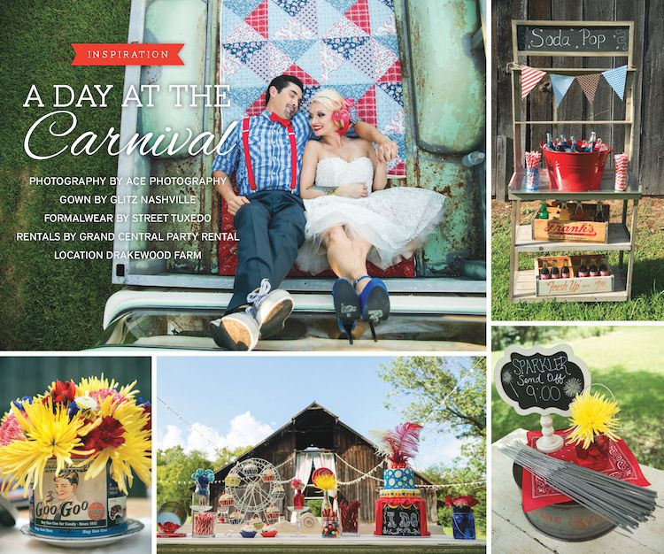 Vintage Carnival Wedding Ideas: A Day At The Carnival Wedding Inspiration