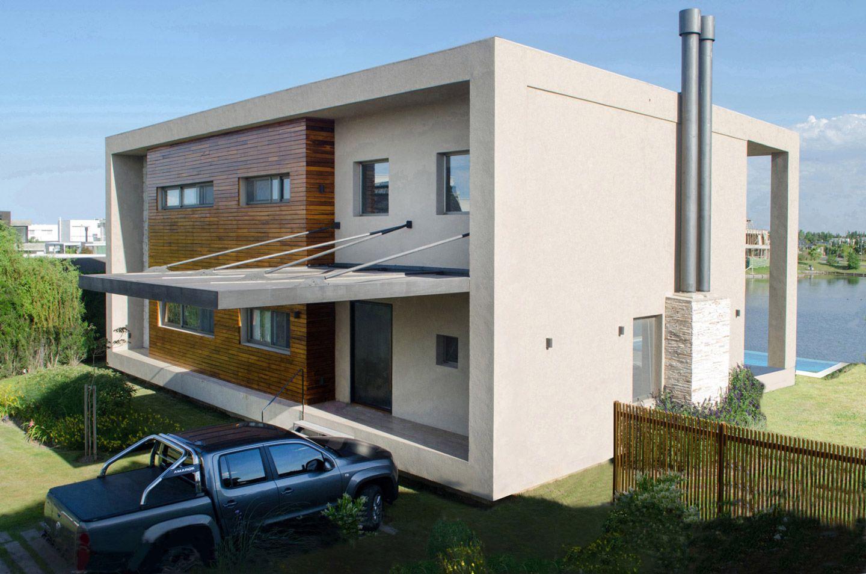 Linea recta arquitectura federico saad fachada frente - Madera para chimenea ...