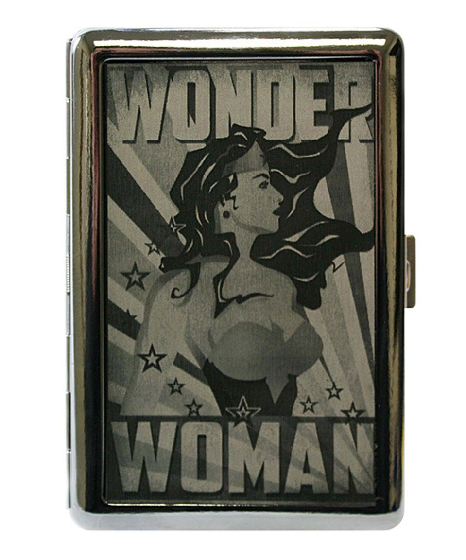 Take a look at this Wonder Woman Art Deco Business Card Holder ...