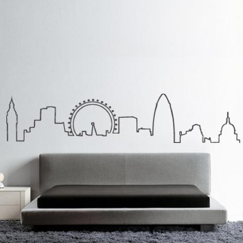 London Wall Art london skyline wall stickerhu2 | things to try | pinterest