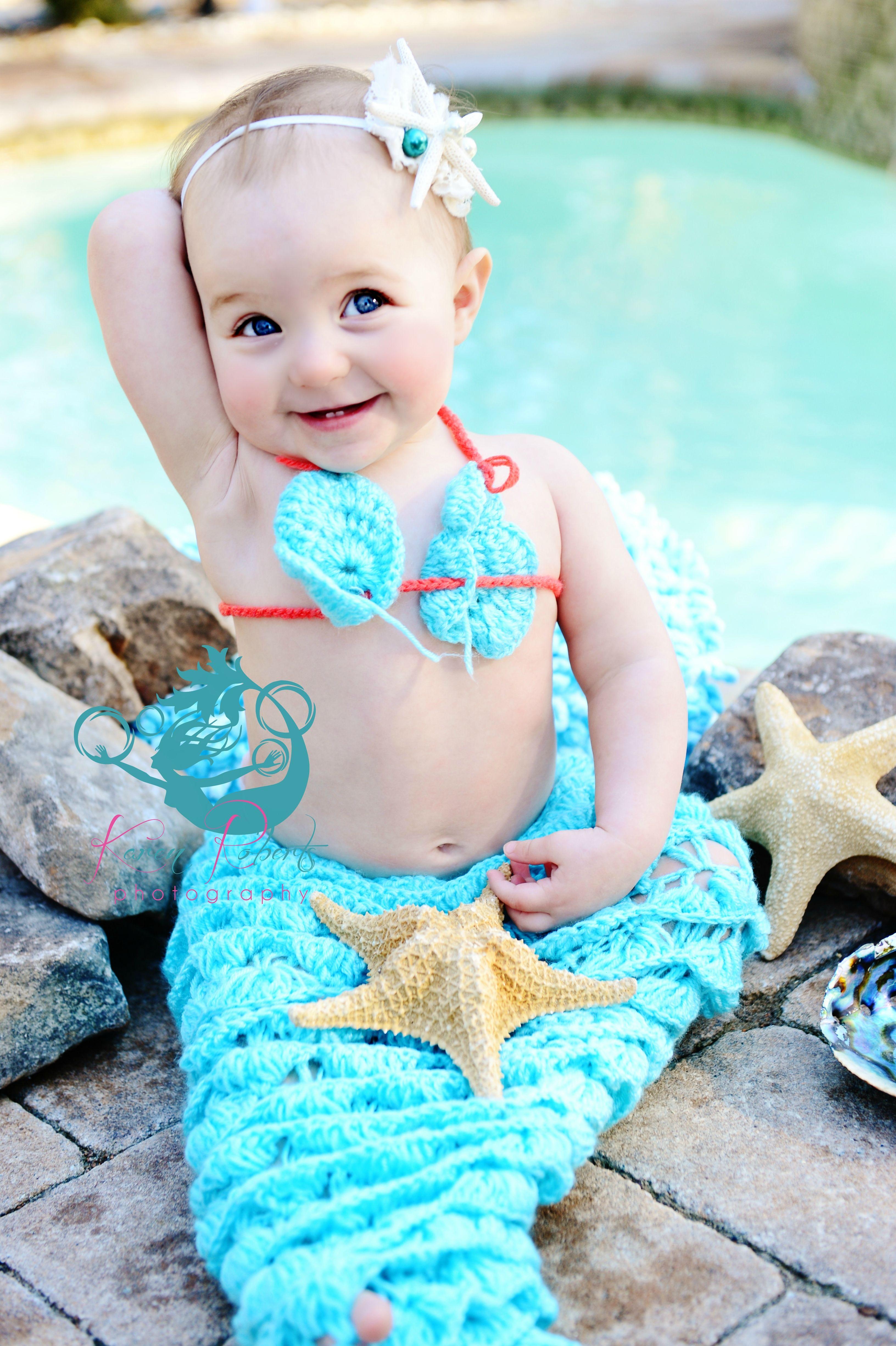 Mermaid Photo Shoot Baby Mermaid Karen Roberts Photography