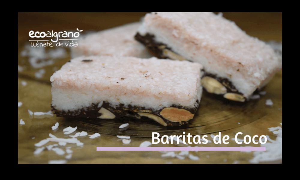 """Vaya """"pintaza"""" que tienen estas Barritas de #coco con #chocolate y grosellas y Bocaditos de coco, dos recetas en una, ¡ De escándalo!. Otra opción a las barritas energéticas, super ricas,  sanas y además ecológicas, ¿ Y tú como las haces ?"""