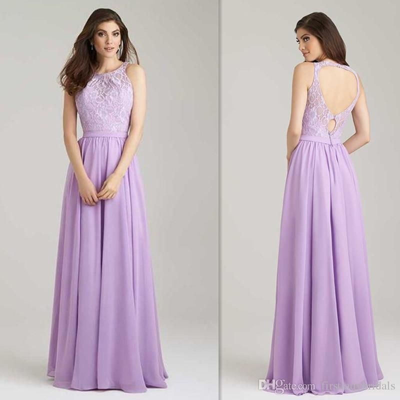 2016 lavender bridesmaids dresses lace top wedding guests for Cheap formal dresses for wedding guests