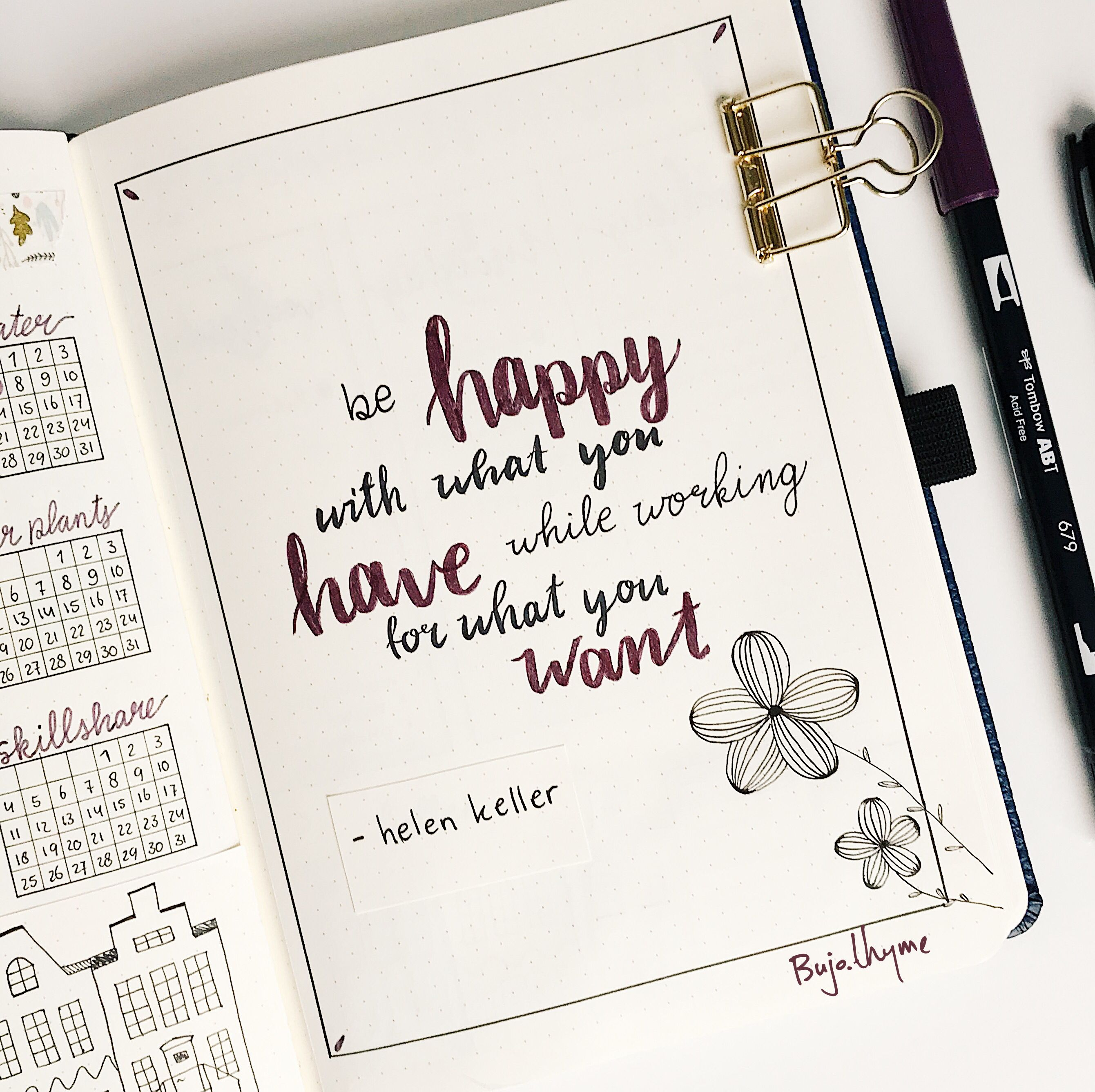 My March bullet journal quote page   Bullet journal quotes ...