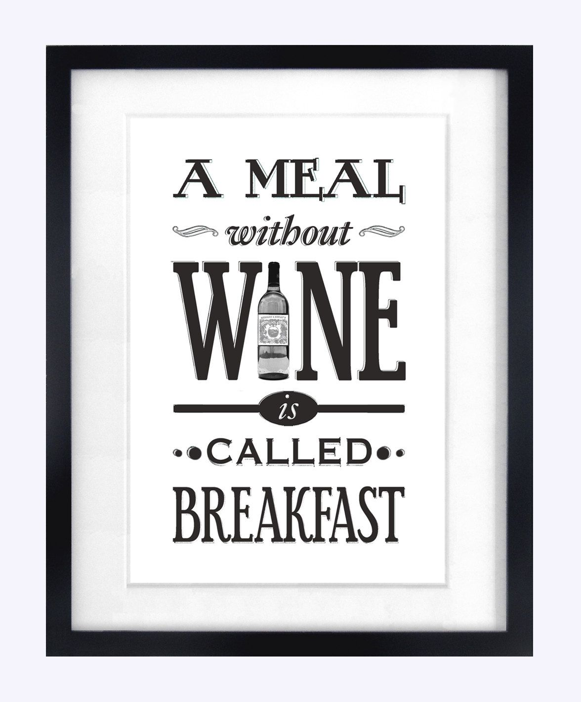 Kitchen art wine - Wine Art Print Kitchen Poster Typographic Print Gift For Her Quote Print Wine Gift Shabby Chic Wine Print Kitchen Art Black White