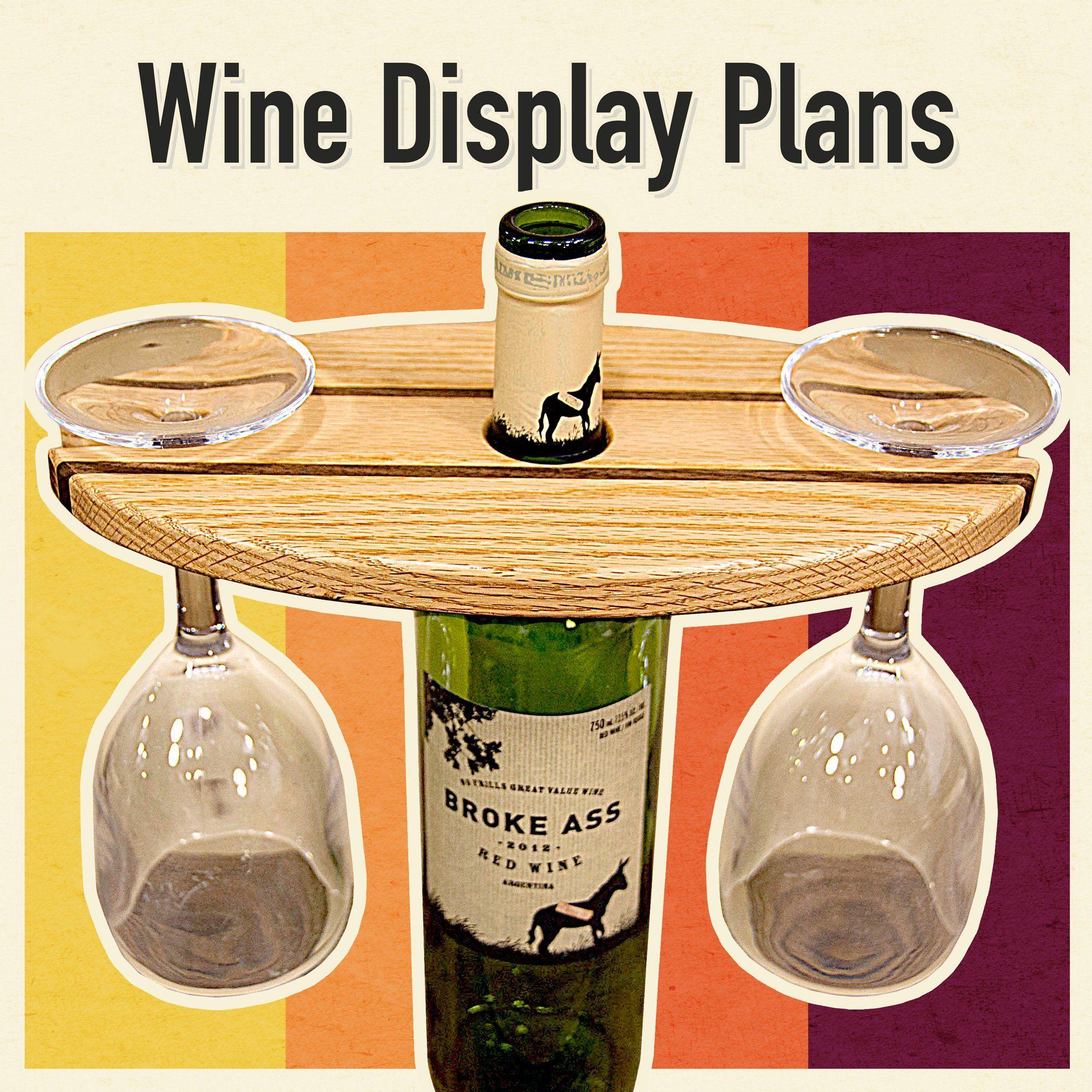 Personalised Wine Bottle /& Glass Holder//Server Wedding or Birthday Gift Wooden