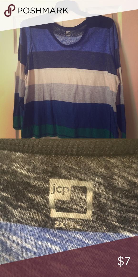 443555c1cd45c2 Women's plus size top Comfortable half sleeve tee JCP Tops Tees - Long  Sleeve