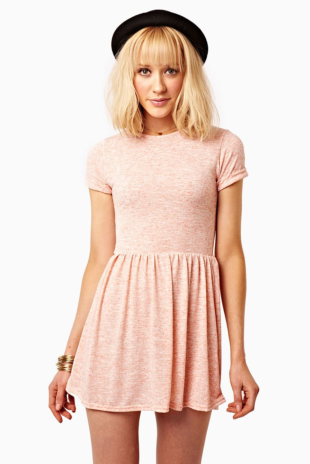 9fe1e8c506 Love this peach T-shirt skater dress from  FashionUnion -- only £15 ...