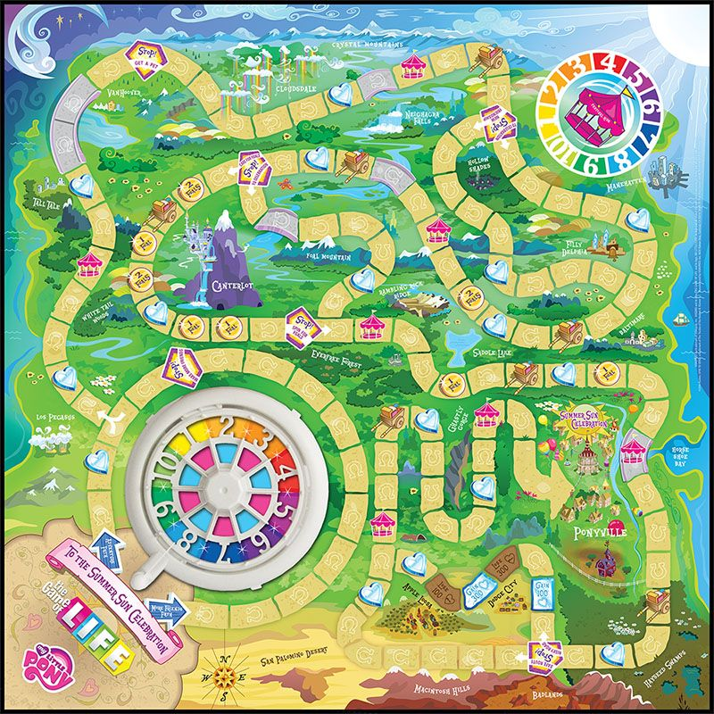 The Game Of Life My Little Pony Mini Toys Games Prints