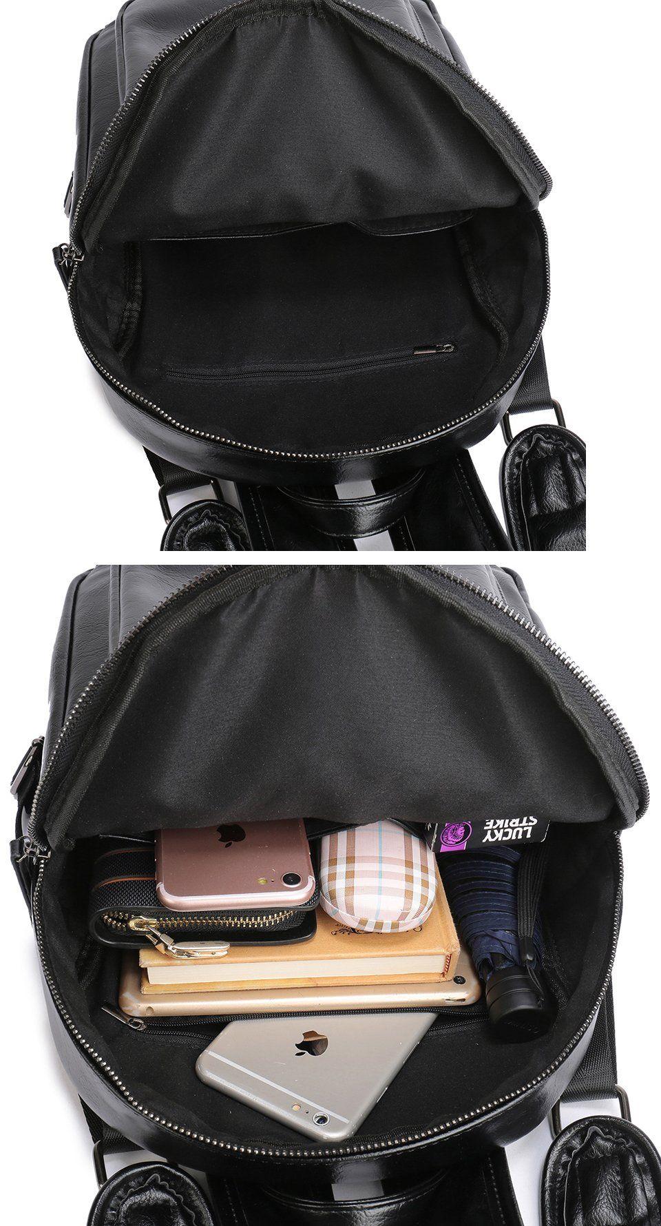 Men Business Casual Backpacks For School College Travel Bag Black