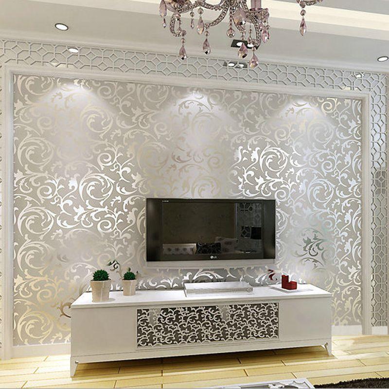 Aliexpress Com Buy New Luxury Silver Grey Golden Reflective Wallpapers Living Room Flooring Stereoscopic Wallpaper Living Room Wallpaper Decor Room Wallpaper