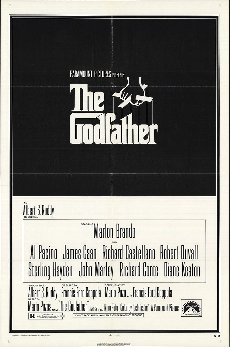 The 50 Most Iconic Movie Posters Of The 1970s In 2020 Godfather Movie The Godfather Marlon Brando