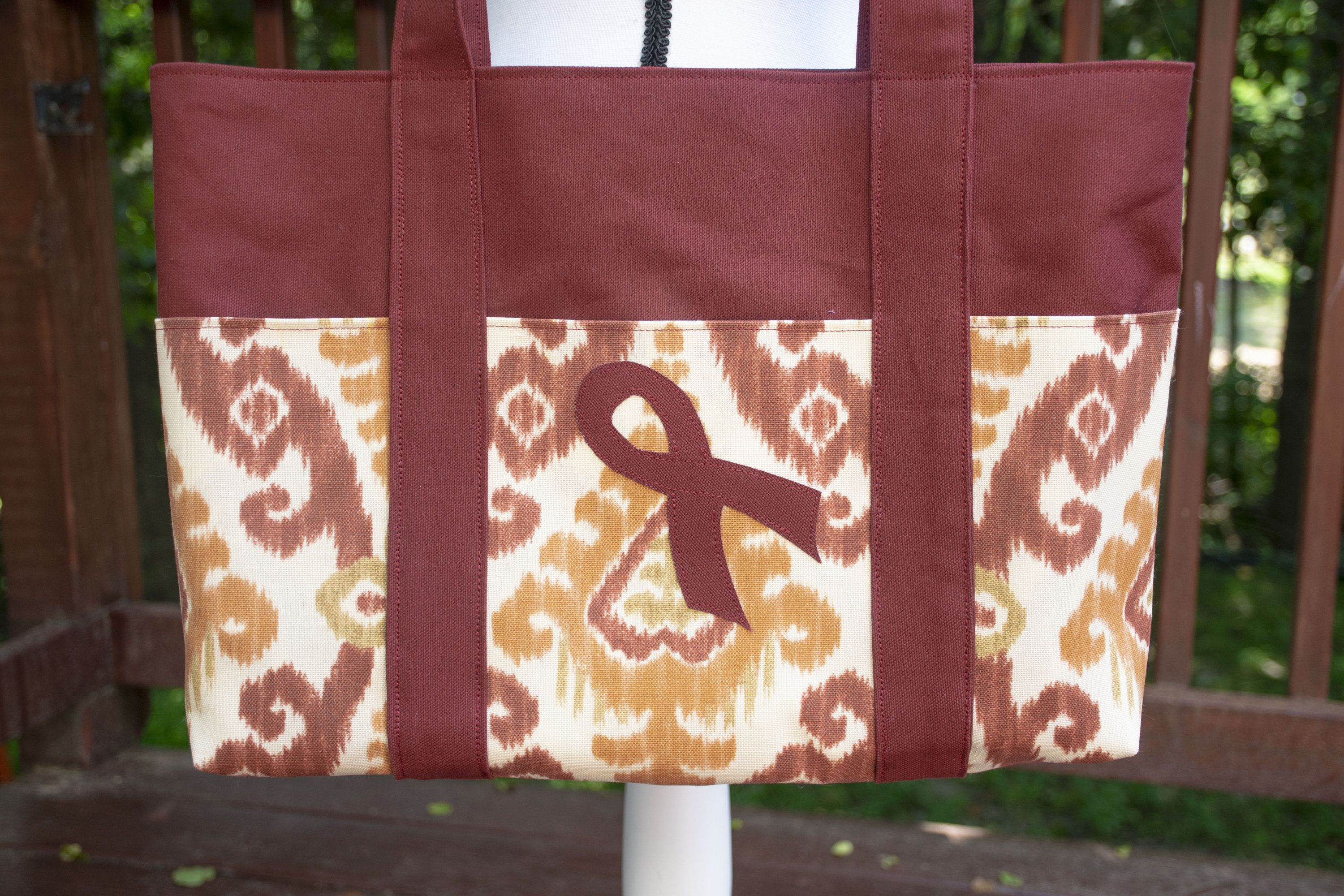 Multiple Myeloma Awareness Ribbon Tote Bag (With images