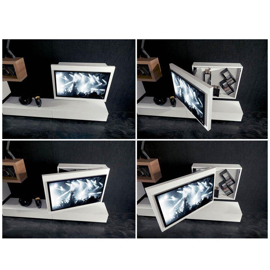 rack tv m bel h ngend schwenkbar und zu ffnen arredaclick wohnen pinterest tv m bel. Black Bedroom Furniture Sets. Home Design Ideas