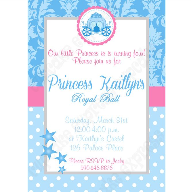 Cinderella Inspired Printable Invitation #3 DIY birthday party ...