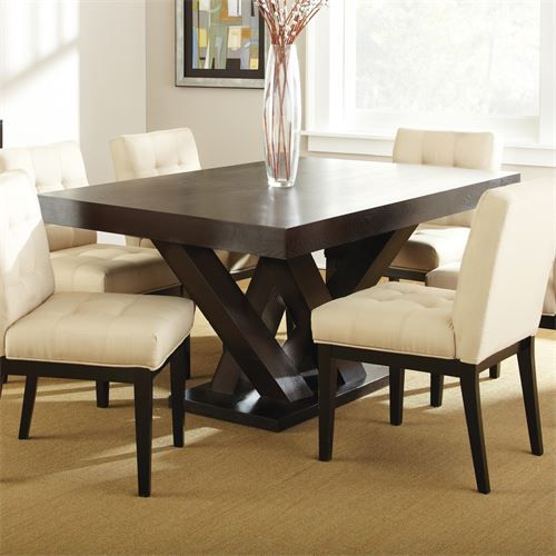 Steve Silver Tf500tn Tiffany Dining Table In Dark Espresso Cherry