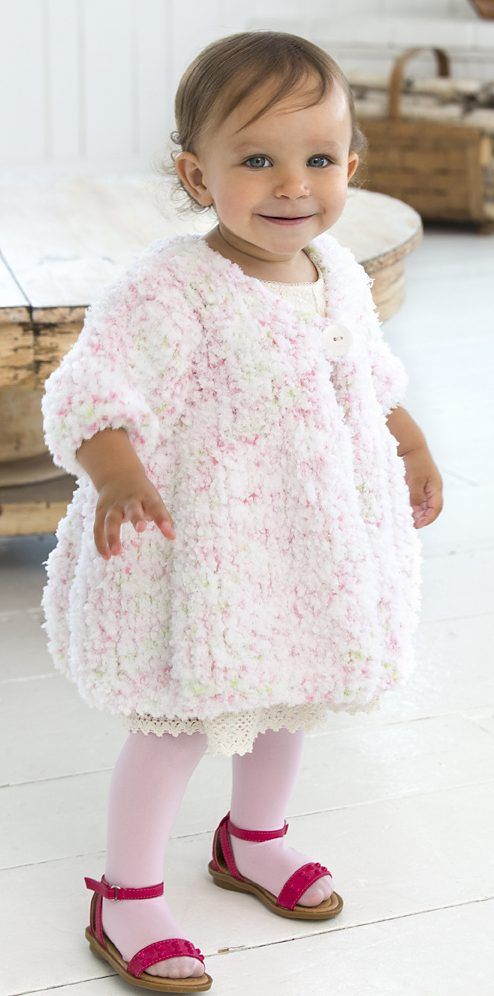 1b1fdbdb9 Free Knitting Pattern for Baby Swing Coat Free Baby Sweater Knitting  Patterns