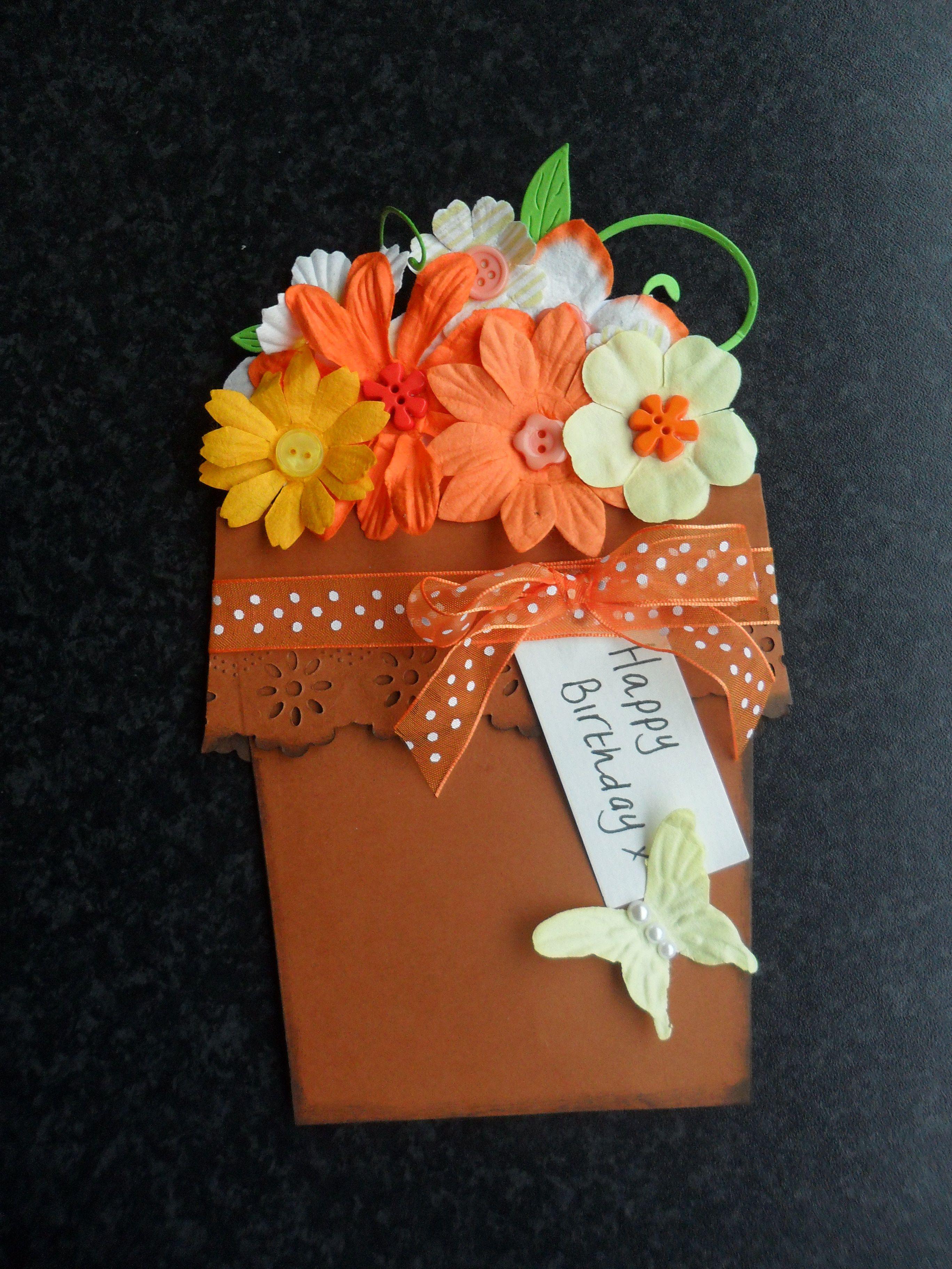 Flower Pot Card Flower Pots Cards Greeting Cards