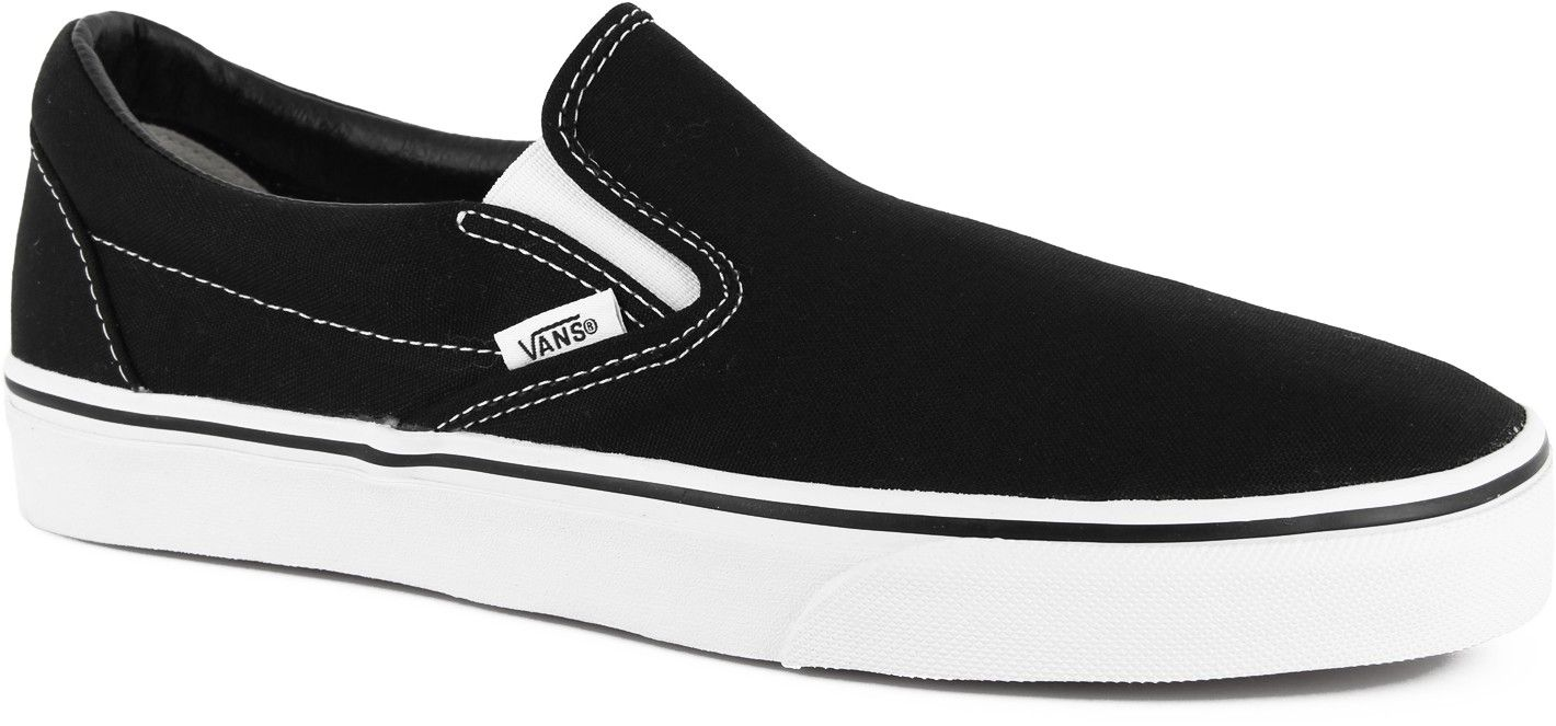 Vans Classic Slip-ons Black w/ White sole | Timeless Stuff ...