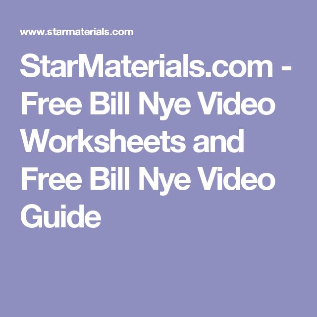 StarMaterials.com - Free Bill Nye Video Worksheets and Free Bill ...