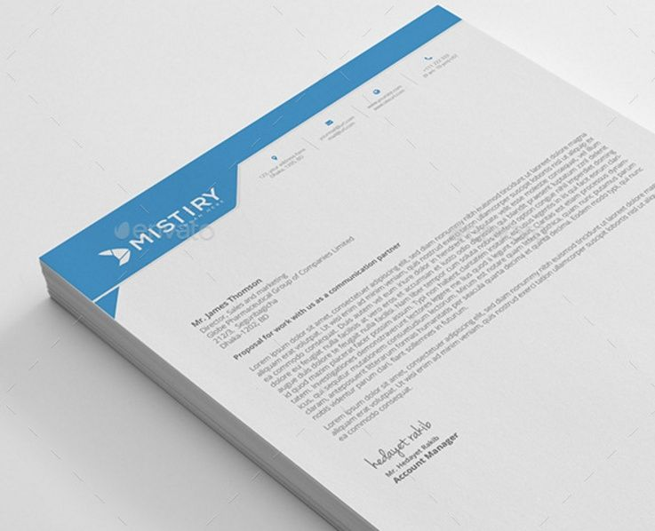 Corporate Letterhead Template Word Psd Ai And Eps Format