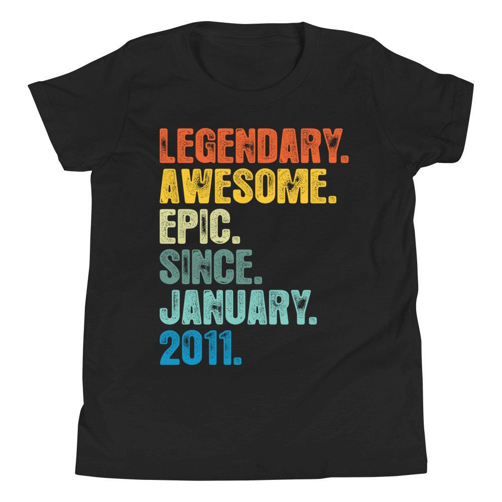 9th birthday shirt hoodie for youth legendary awesome
