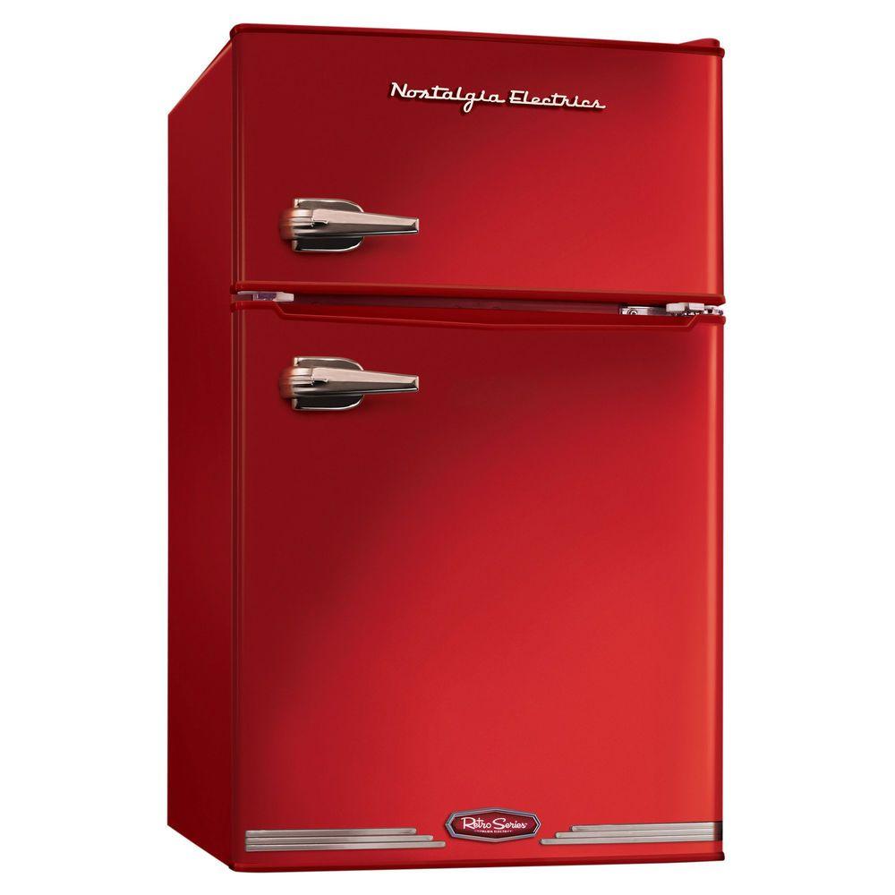 Uncategorized Nostalgic Kitchen Appliances nostalgia electrics rrf325hnred retro series 3 0 cubic foot kitchens