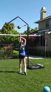 Volleyball Spike Trainer Hit Volleyball Training Equipment Samantha Sami Nydam Volleyball Spike Trainer Volleyball Training Volleyball Equipment