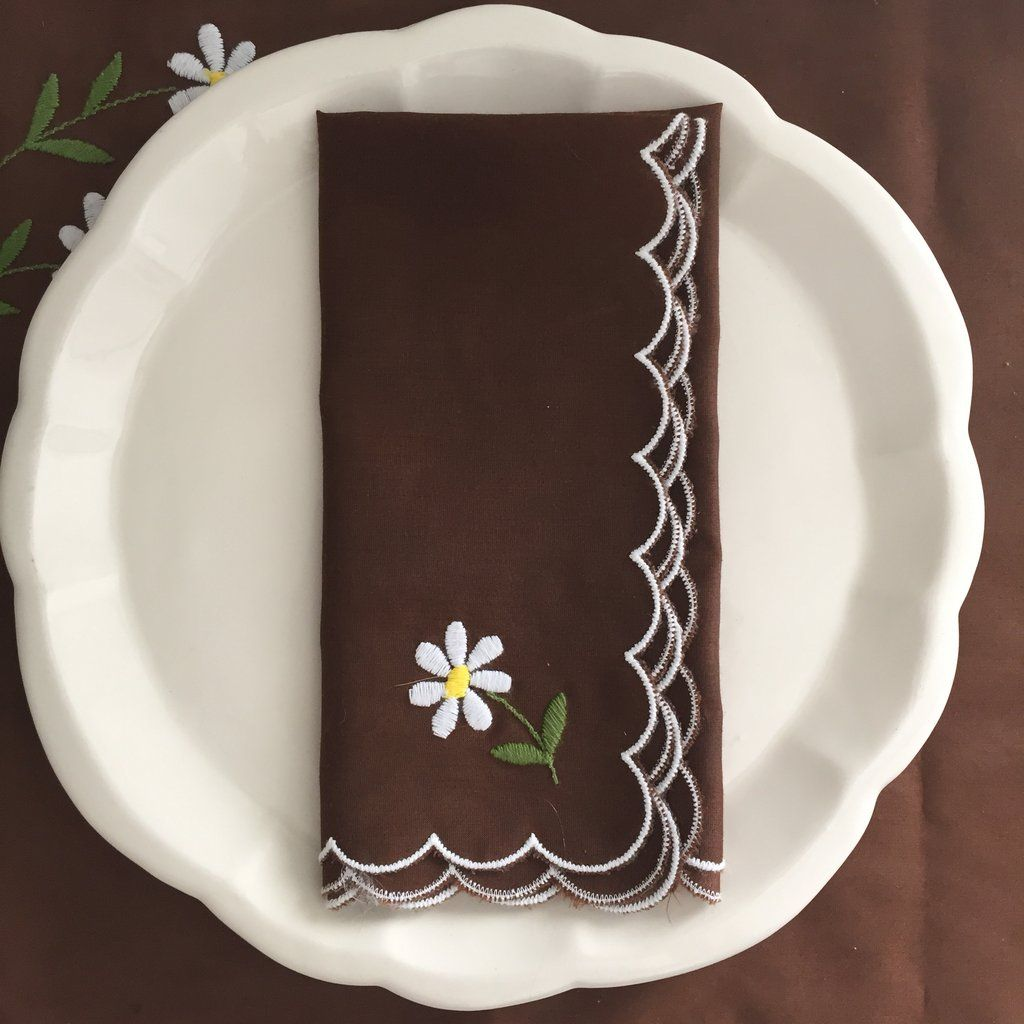 Vintage Embroidered Napkins and Placemats