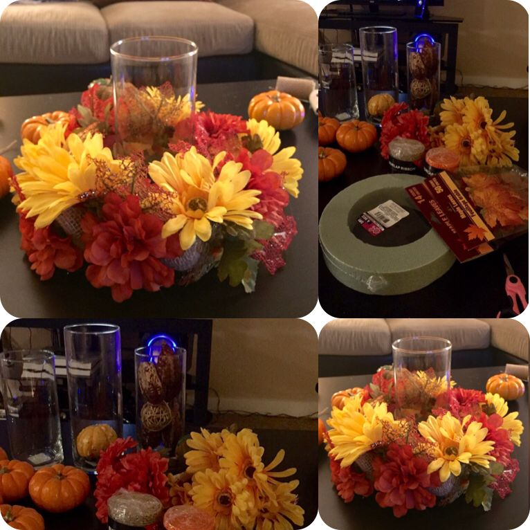 Fall centerpiece super cute and easy to make all