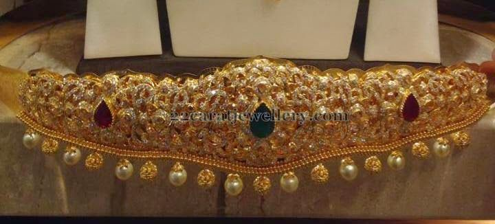 8eb7f4edb7177 250 Grams Heavy Vaddanam | Trendy heavy vaddanam | Jewelry, Jewelry ...